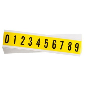 Цифры на карте Brady упаковка 25 карт,в-499 от 0 до 9,каждого по, Нейлон, 25 шт, 10 шт