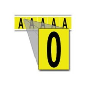 Цифра 0 Brady 0,25 карт, черный на желтом, 5 шт, 44x127 мм, Нейлон, b-499