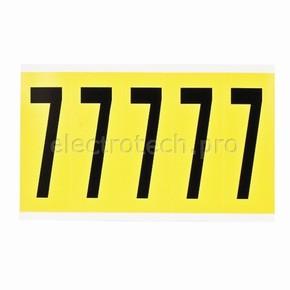 Цифра 7 Brady 7,25 карт, черный на желтом, 5 шт, 44x127 мм, Нейлон, b-499