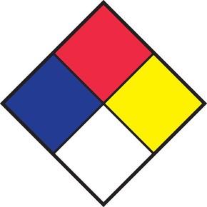 Набор плакатов Brady nfpa nfpa- и символы,светоотражающий,по, 250x250 мм, b-997, 10 шт, ромб