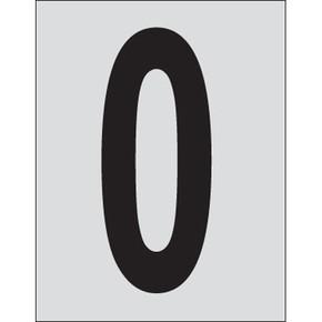 Цифра 0 Brady, черный на серебряном,белом, 25 шт, 25x38 мм, b-946, Винил, 25 шт. (gws59000)