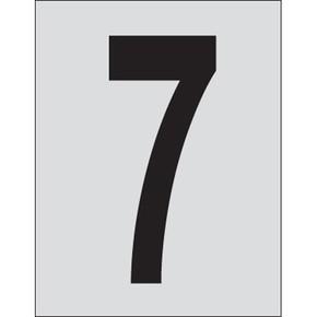 Цифра 7 Brady, черный на серебряном,белом, 25 шт, 25x38 мм, b-946, Винил, 25 шт.