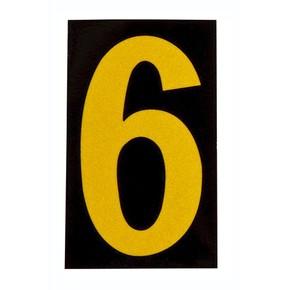 Цифра 6 Brady, желтый на черном, 25 шт, 25x38 мм, b-946, Винил, 25 шт.