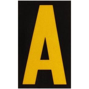 Буква A Brady, желтый на черном, 25 шт, 25x38 мм, b-946, Винил, 25 шт.