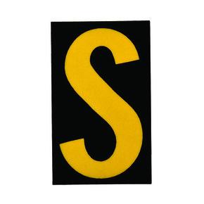 Буква S Brady, желтый на черном, 25 шт, 25x38 мм, b-946, Винил, 25 шт.
