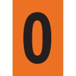 Цифра 0 Brady, черный на оранжевом, 25 шт, 25x38 мм, b-946, Винил, 25 шт. (gws59125)