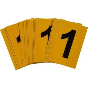 Цифра 1 Brady, черный на желтом, 25 шт, 25x38 мм, b-946, Винил, 25 шт.