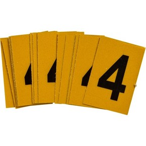Цифра 4 Brady, черный на желтом, 25 шт, 25x38 мм, b-946, Винил, 25 шт.