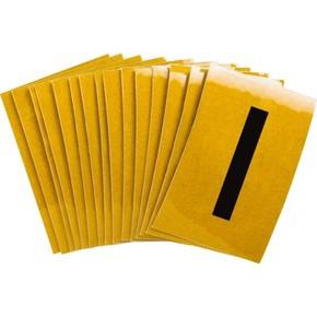 Буква I Brady, черный на желтом, 25 шт, 25x38 мм, b-946, Винил, 25 шт.