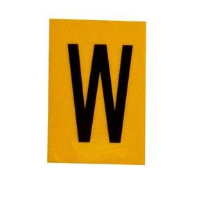 Буква W Brady, черный на желтом, 25 шт, 25x38 мм, b-946, Винил, 25 шт.