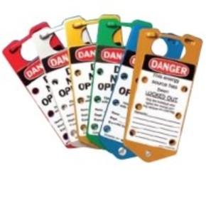Табличка уведомление при пожаре Brady жесткий, белый на синем, «keep locked shut», 100x100 мм, Пластик, 1 шт