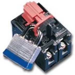 Табличка уведомление при пожаре Brady жесткий, белый на синем, «fire escape keep clear», 100x100 мм, Пластик, 1 шт