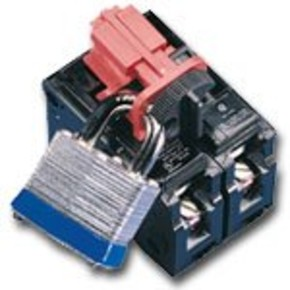 Знаки эвакуационные Brady жесткий, белый на синем, 300x600 мм, Пластик, «fire axet keep clear», 1 шт