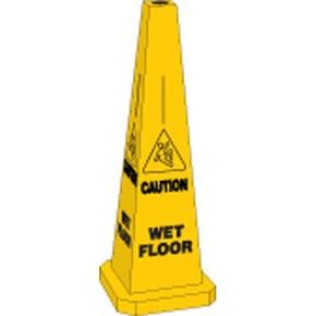 Конус для принтера легенда Wet floor Brady bradycone, желтый, «wet floor», 89 мм