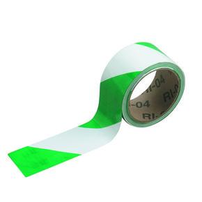 Лента предупреждающая Brady клеевая,зелено- 1, белая, 50.8x16560 мм, Рулон