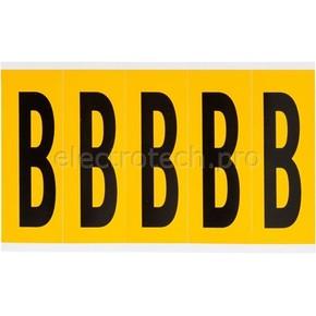Буква B Brady, черный на желтом, 5 шт, 44x127 мм, 25 шт.