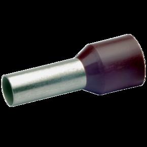 Втулочный изолированный наконечник Klauke 17618, 10 мм², длина втулки 18 мм, цветной ряд 2, коричневый