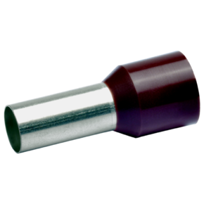Втулочный изолированный наконечник Klauke 178BR, 25 мм², длина втулки 16 мм, цветной ряд 1, коричневый