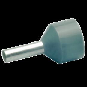 Изолированный втулочный наконечник Klauke 43410 для стойких к КЗ проводов 4 мм², для втулки 10 мм, серый