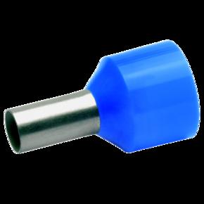 Изолированный втулочный наконечник Klauke 43712 для стойких к КЗ проводов 16 мм², для втулки 12 мм, голубой