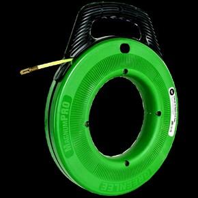 УЗК Greenlee 52041747 MagnumPro — Пластиковый барабан с лентой из нержавеющей стали для протяжки кабеля, 60 м, сечение 3,0 × 1,5 мм