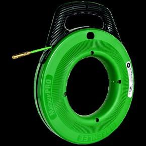 УЗК Greenlee 52055326 — Пруток из стекловолокна в стальном барабане (диаметр 550 мм) на подставке для протяжки кабеля, 60 м, диаметр 6 мм