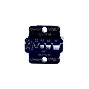 """Матрица Klauke AE502 серии """"50"""" для втулочных наконечников 10–25 мм², трапеция"""