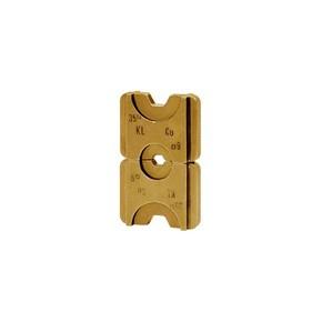 """Комплект в пластиковом кейсе Klauke HD5SET: 7 пресс-матриц серии """"5"""" для медных трубчатых DIN наконечников 6–185 мм²"""