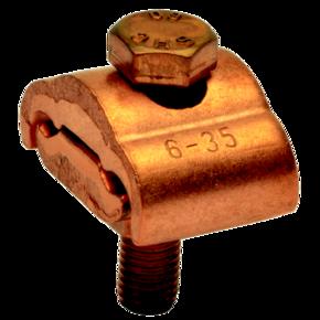 ПараллельныймедныйболтовойзажимKlaukeSAK18дляжилсечением10–50мм²с1болтом