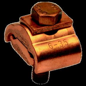 Параллельный медный болтовой зажим Klauke SAK23 для жил сечением 10–70 мм² с 1 болтом и упорной пластиной