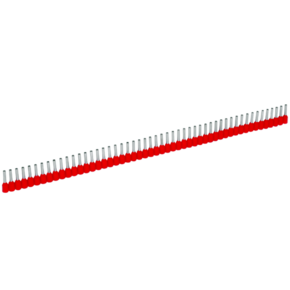 Втулочные изолированные наконечники Klauke ST9698, 0,5 мм², для втулки 8 мм, белый, в упаковке 500 шт., в ленте