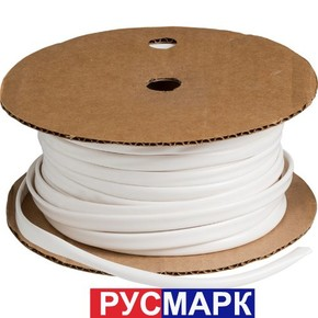 Трубка кембрик ПВХ «Русмарк» для печати 6.0 мм, белая 100 метров (аналог IB6020)