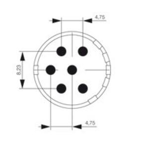 Круглый соединительный разъем M23 концентратор сигналов соединительный разъем () SAI/M23/BE/6/3.5MM