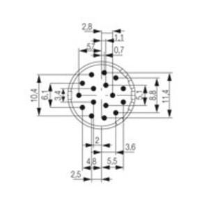 Круглый соединительный разъем M23 концентратор сигналов соединительный разъем () SAI/M23/SE/16/F