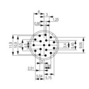 Круглый соединительный разъем M23 концентратор сигналов соединительный разъем () SAI/M23/SE/17/3.5MM/G