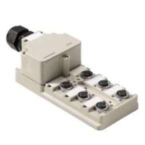 Концентратор M12 компоненты полевой шины сигналов (M12) SAI/6/M/4P/M12