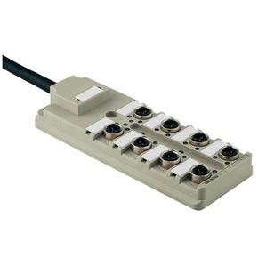 Концентратор M12 SAI (пассивный распределитель) SAI/8/F/4P/IDC/PUR/10M
