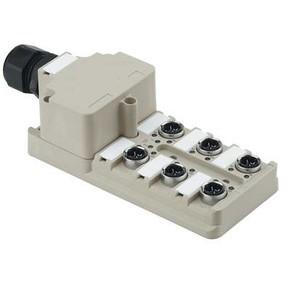 Концентратор M12 SAI (пассивный распределитель) SAI/6/M/4P/IDC