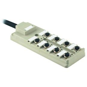 Концентратор M12 сигналов пассивный распределитель (Вариант с кабелем) SAI/8/F/5P/20M/0.5/1.0U