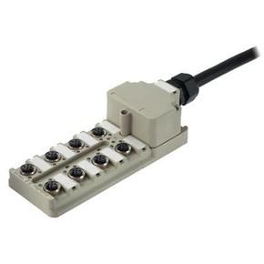 Концентратор M12 сигналов пассивный распределитель (Вариант с крышкой) SAI/8/MF/4P/PUR/10M/M12