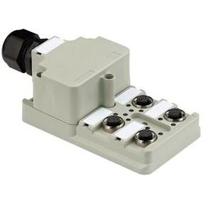 Концентратор M12 сигналов пассивный распределитель (Вариант с крышкой) SAI/4/M/5P/M12/1/1
