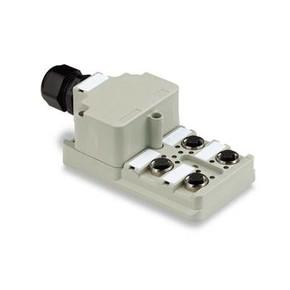 Концентратор M12 сигналов пассивный распределитель (Вариант с крышкой) SAI/4/M/8P/M12