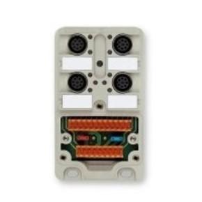 Концентратор M12 сигналов пассивный распределитель (Вариант с крышкой) SAI/4/M/8P/M12/UT