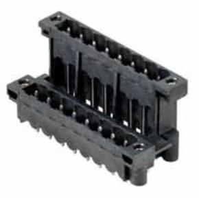 Штырьковый соединитель (фланец/фланец под пайку) 5.08 mm SLDV/THR/5.08/24/180FLF/3.2SN/BK/BX
