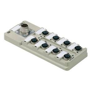 Концентратор M12 сигналов пассивный распределитель (С разъемом M16) SAI/8/M16/4P/M12