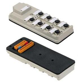 Концентратор M12 сигналов пассивный распределитель (Ввод через заднюю стенку) SAI/8/B/5P/M12/SL
