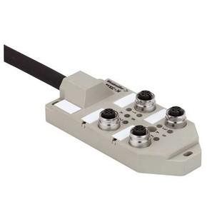 Концентратор M12 сигналов пассивный распределитель (M12) SAI/4/F/4P/FC/10M