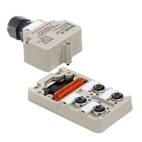 Концентратор M12 сигналов пассивный распределитель (Вариант с крышкой Ex) SAI/4/M/4P/Exi/Z1/OL