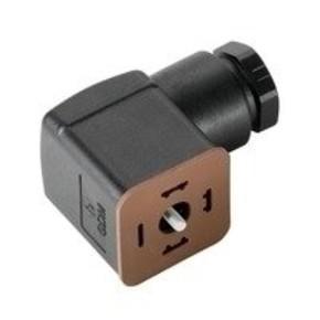 Клапанный штекер гнездо угловое SAIB/VSA/3P/250/9/OB