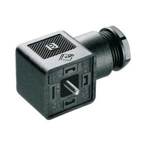 Клапанный штекер гнездо угловое SAIB/VSA/3P/230/9/LD